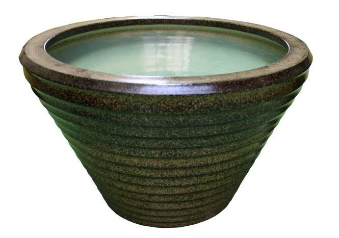 睡蓮鉢 メダカ鉢 金ソバSA-9水鉢16号 信楽焼 めだか鉢 水鉢 金魚鉢 ビオトープづくりに 水連鉢 すいれん鉢彩り屋