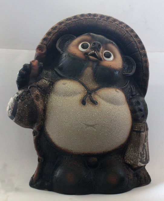 福々ひねり狸 古信楽 風20号 信楽焼 たぬき 陶器 狸 置物 タヌキ彩り屋