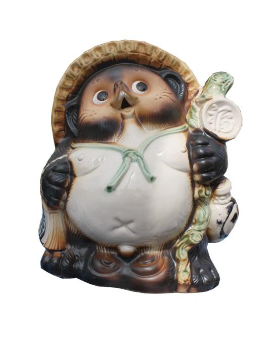 福々狸 8号 信楽焼 たぬき 陶器 狸 置物 タヌキ彩り屋