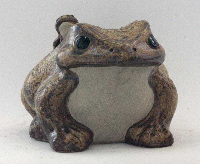 蛙(子2匹)15号信楽焼 陶器 置物 かえる彩り屋_