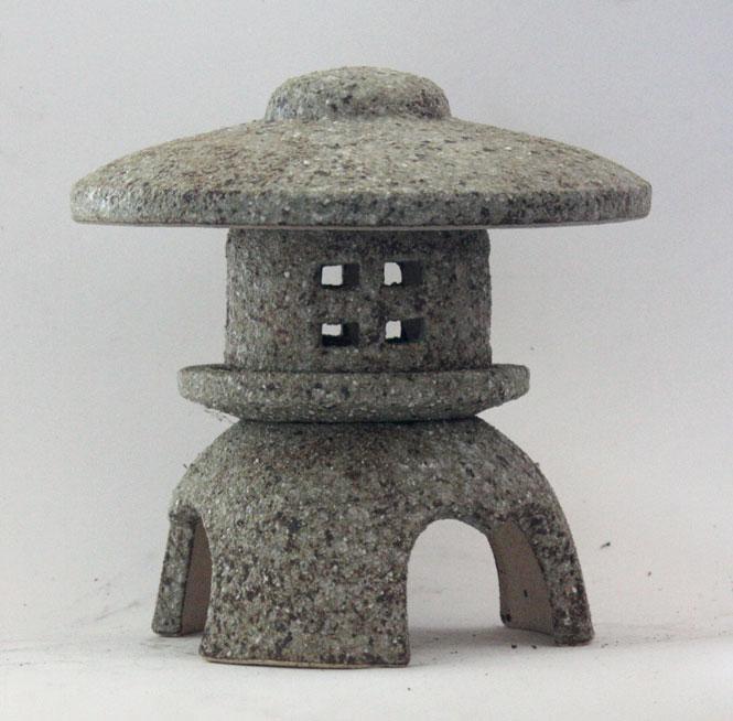 古信楽 丸雪見灯籠 8号信楽焼 陶器 置物 燈籠彩り屋