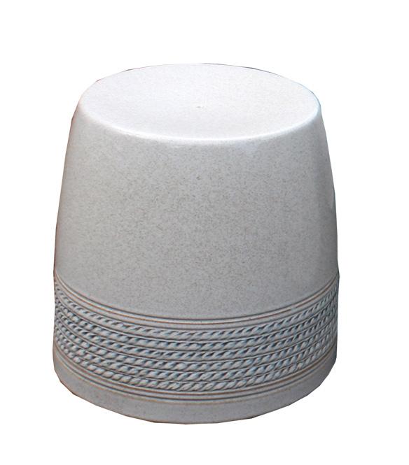 信楽焼 ガーデンテーブル スツール1点 20号 白縄文テーブルセット 陶器 テーブル 彩り屋