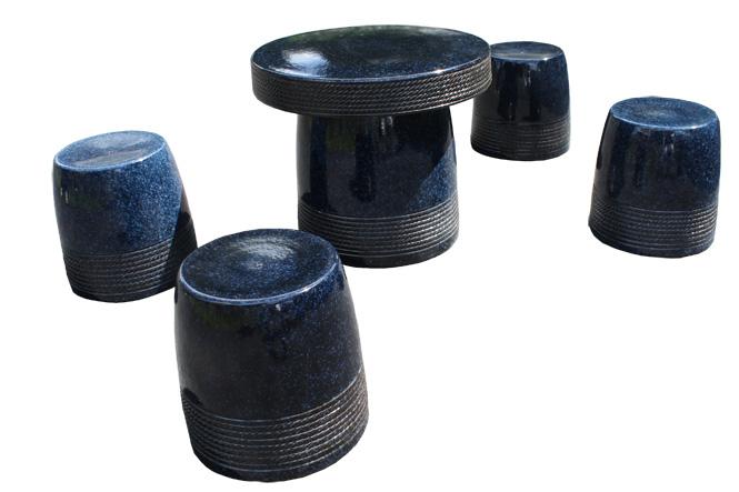信楽焼 ガーデンテーブル 20号 生子縄文テーブルセット5点 陶器 テーブル彩り屋2020年10月初旬仕上がり予定スーパーセール 10%OFF