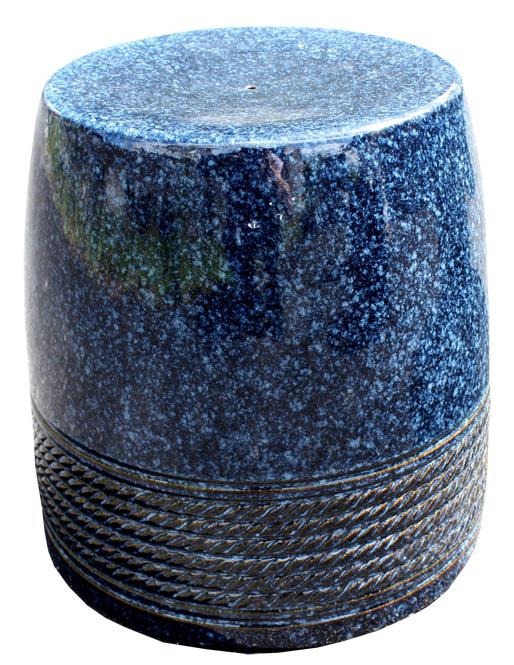 信楽焼 ガーデンテーブル スツール1点 20号 生子縄文テーブルセット 陶器 テーブル彩り屋