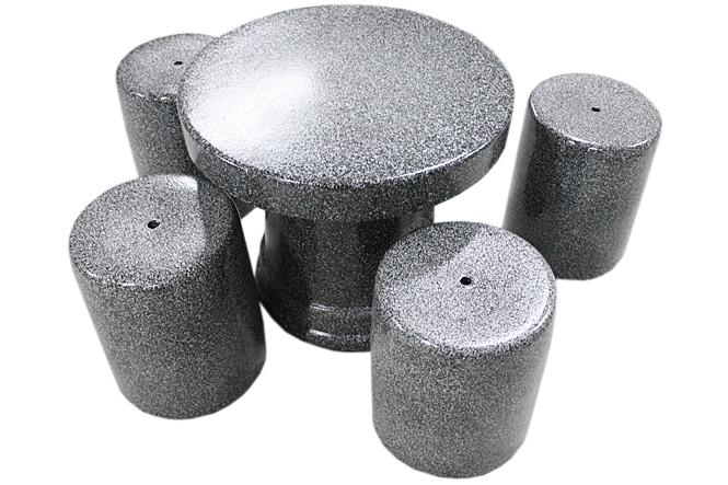 信楽焼 ガーデンテーブル 20号 石肌テーブルセット5点 陶器 テーブル 彩り屋