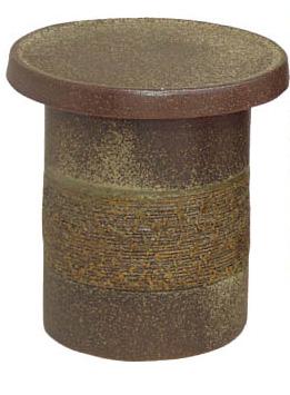 信楽焼 ガーデンテーブル用 (スツール1点) / 14号 窯肌 テーブルセット 陶器 テーブル彩り屋