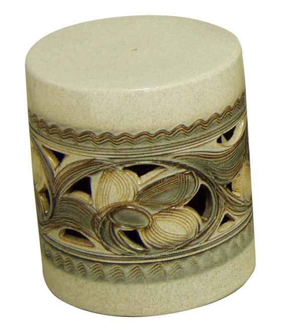 信楽焼 ガーデンテーブル スツール1点 15号 カスミ唐草テーブルセット 陶器 テーブル 彩り屋