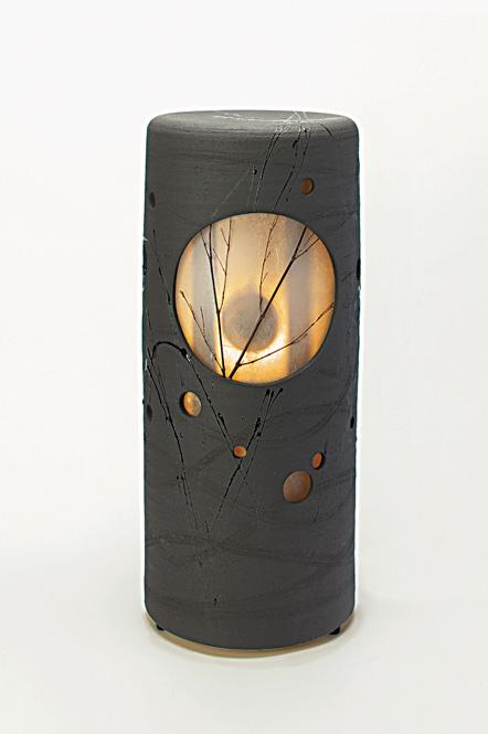信楽焼涼月音照明灯り陶器
