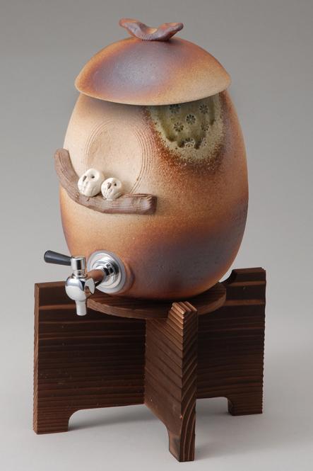 ペアふくろうサーバー陶器 信楽焼 焼酎サーバー 還暦祝い ギフト お祝い 彩り屋