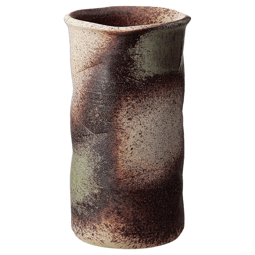 傘立て 陶器 古陶 窯肌 切立 傘立 信楽焼