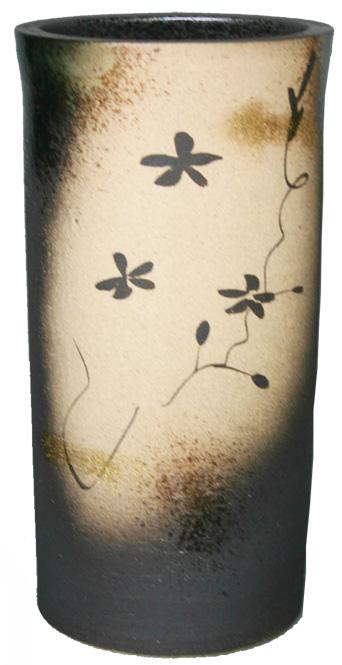 傘立て 陶器 信楽焼 金彩花絵 傘立