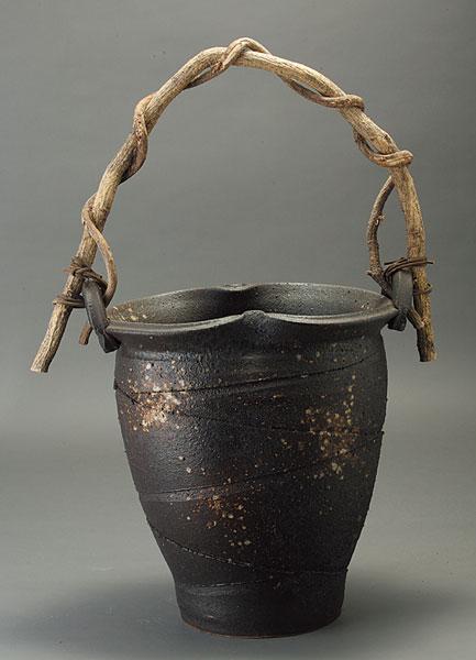 手作り山づる 花入 信楽焼 陶器 花入れ 花器 花入 花瓶彩り屋