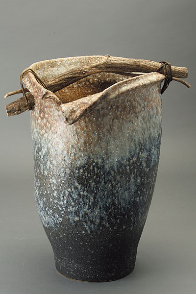傘立て 陶器 信楽焼 白窯変手桶 傘立