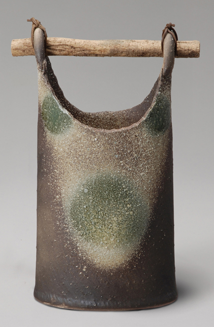 ビードロぼかし手桶 花入 信楽焼 陶器 花入れ 花器 花入 花瓶彩り屋