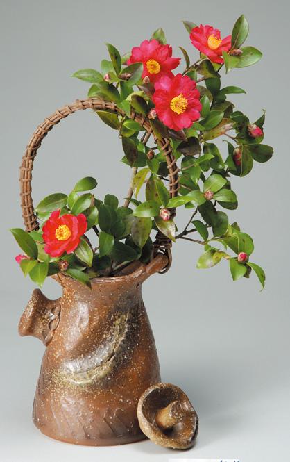 土瓶型つる付 花入 信楽焼 陶器 花入れ 花器 花入 花瓶彩り屋