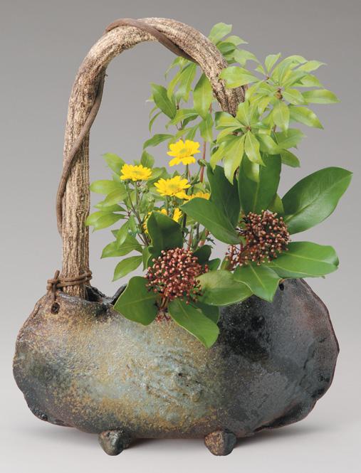 窯変つる付 花入 信楽焼 陶器 花入れ 花器 花入 花瓶彩り屋