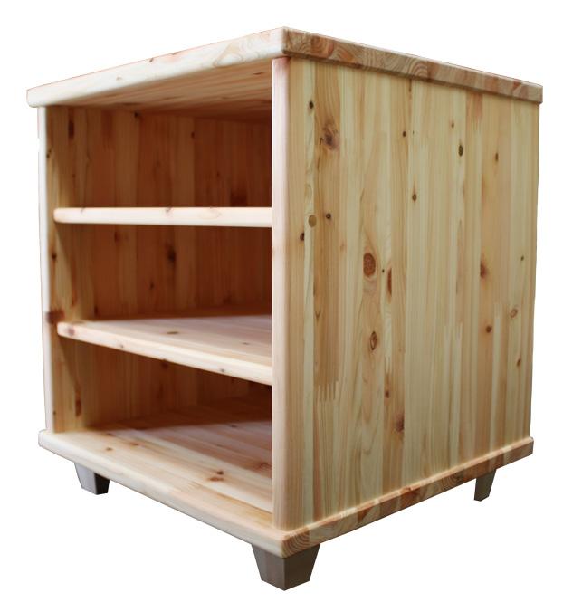 総ひのきラック脚付ひのきボックス国産 完成品熊野の良質ヒノキ材使用 (檜)熊野の恵みシリーズ ローボードラック彩り屋