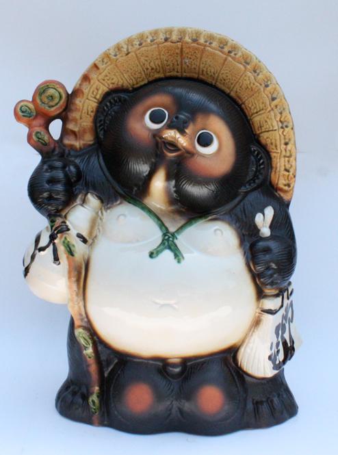 福狸20号 信楽焼 たぬき 陶器 狸 置物 タヌキ 彩り屋