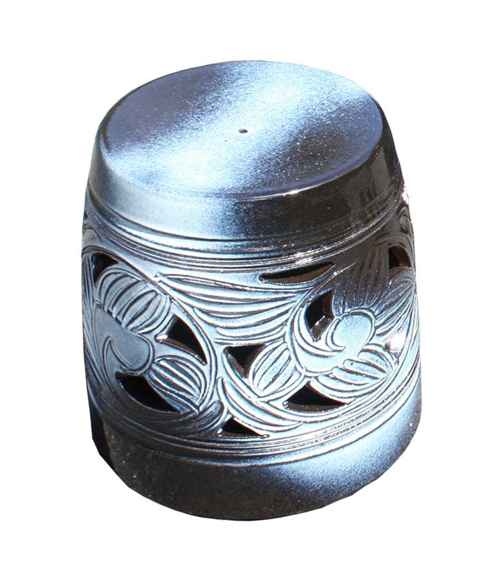 信楽焼 ガーデンテーブル スツール1点 20号 窯変唐草テーブルセット 陶器 テーブル受注生産商品1ヶ月から2ヶ月で仕上がり彩り屋
