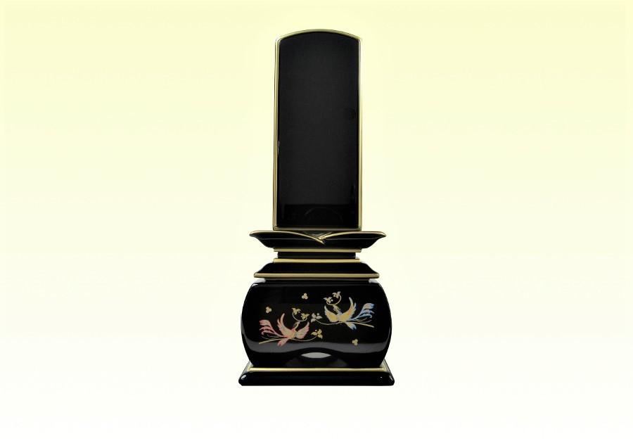 モダン 塗り位牌 蒔絵位牌 優雅「鳳凰」おしどり 3.0寸