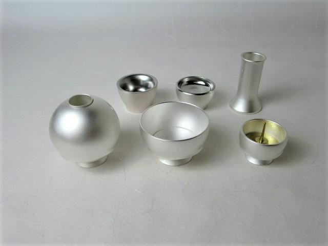 モダン仏具 手元供養 国産品 游ゆう 真珠色 2.0寸 6点セット