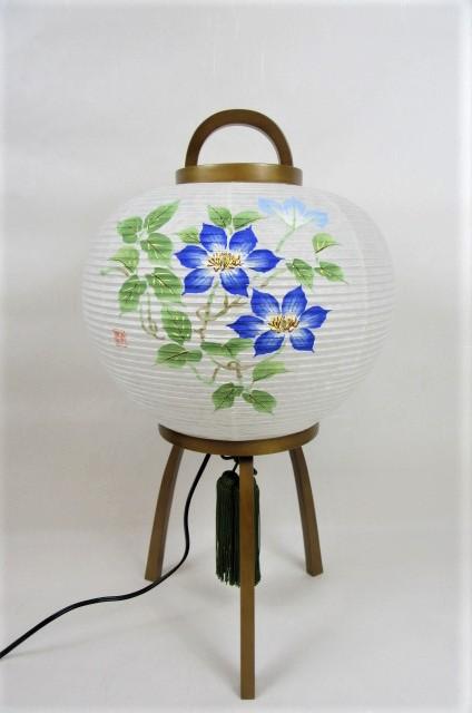 盆提灯 置き 現代行灯 木製 手描 紙 花風月 TESSEN