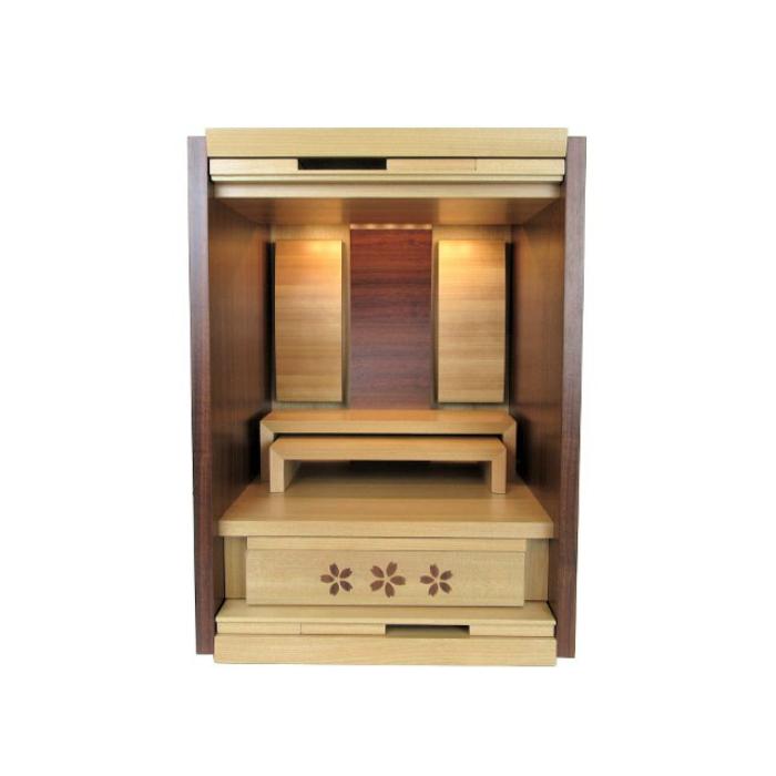 仏壇 モダン ミニ 小型 家具調 上置 ウィズ 桜 16号