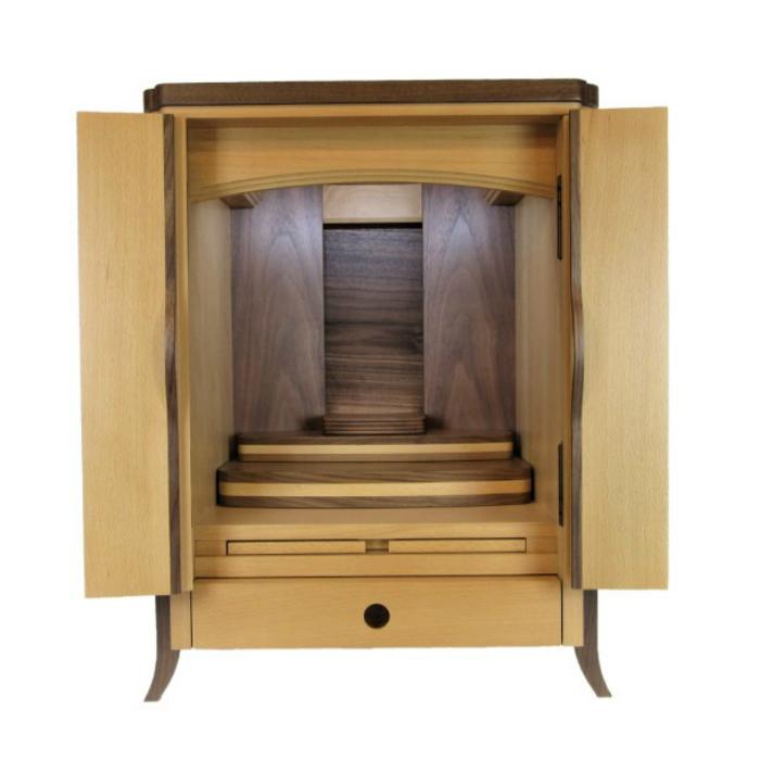 仏壇 モダン ミニ 小型 家具調 上置 シエナ ブナ 20号