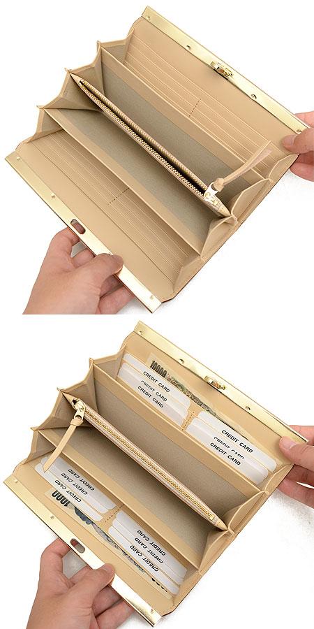 アンメートルキャレ 鳍搪瓷类型推拉硬件长钱包 FL30307