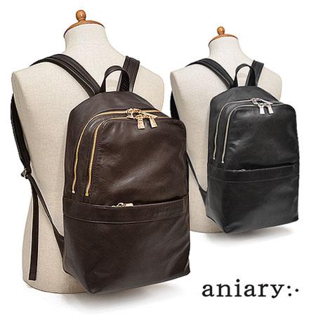 アニアリ aniary アンティークレザー バックパック リュック 本革 革 A4 メンズ 01-05000 ブランド