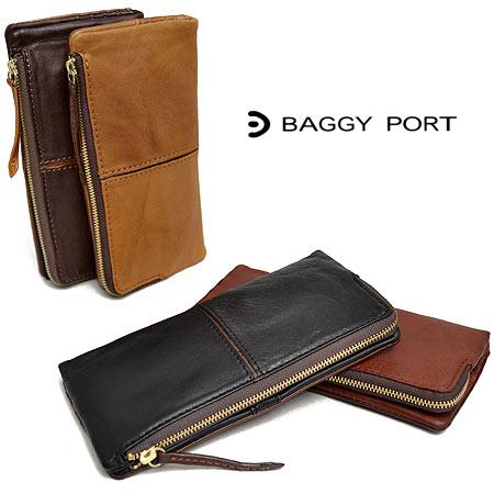 バギーポート BAGGYPORT フルクロームワックスレザー バイカラー 長財布 レディース HRD-401 大容量