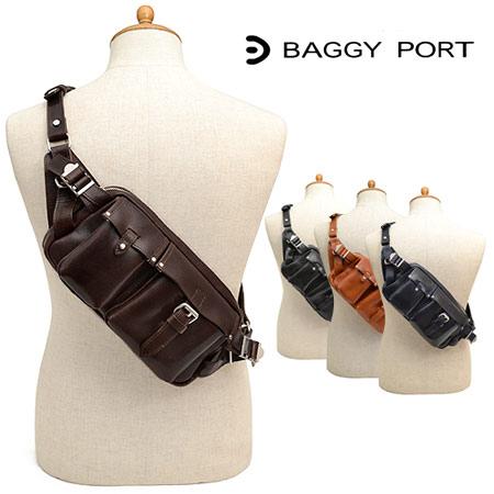 バギーポート BAGGYPORT オイルバケッタレザー ボディバッグ ウエストバッグ メンズ JOB-938 ブランド 本革 革