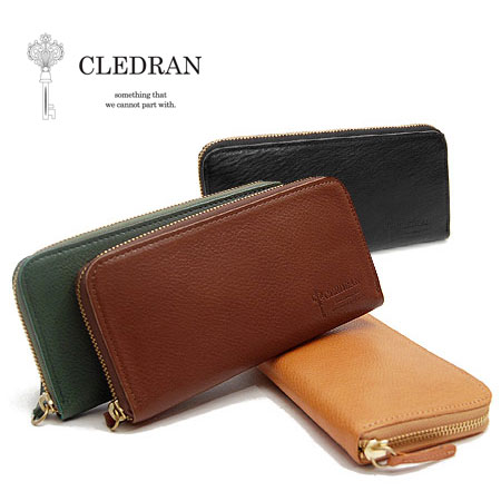 クレドラン CLEDRAN ラスト LUST ラウンドファスナー 長財布 レディース S-6514 ブランド 本革 革 大容量 プレゼント 緑 グリーン 財布 母の日