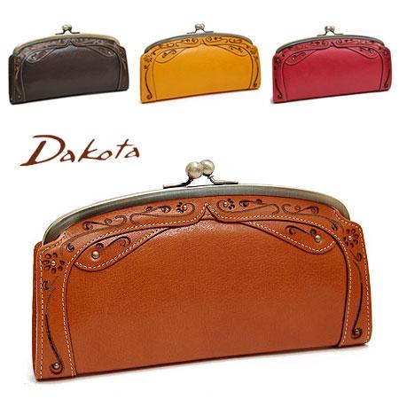 ダコタ Dakota デイジー がま口 長財布 ブランド レディース 本革 革 レザー 0035222 プレゼント 財布 大容量 母の日