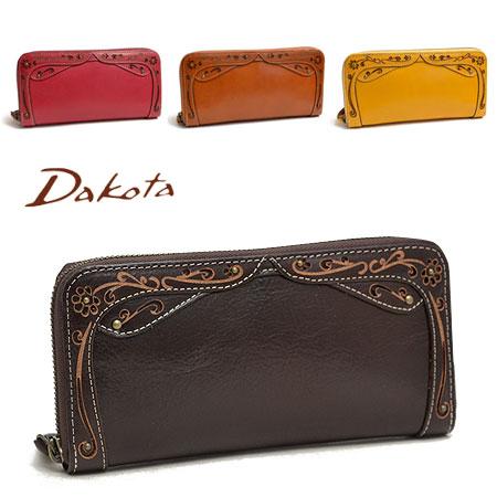 ダコタ Dakota デイジー ラウンドファスナー 長財布 レディース 本革 革 レザー 0035226 プレゼント 財布 ブランド 大容量