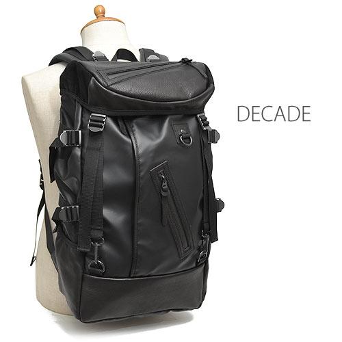 ディケイド DECADE コーティングナイロン コンビ バックパック メンズ DCD-00400N ブランド 本革 革