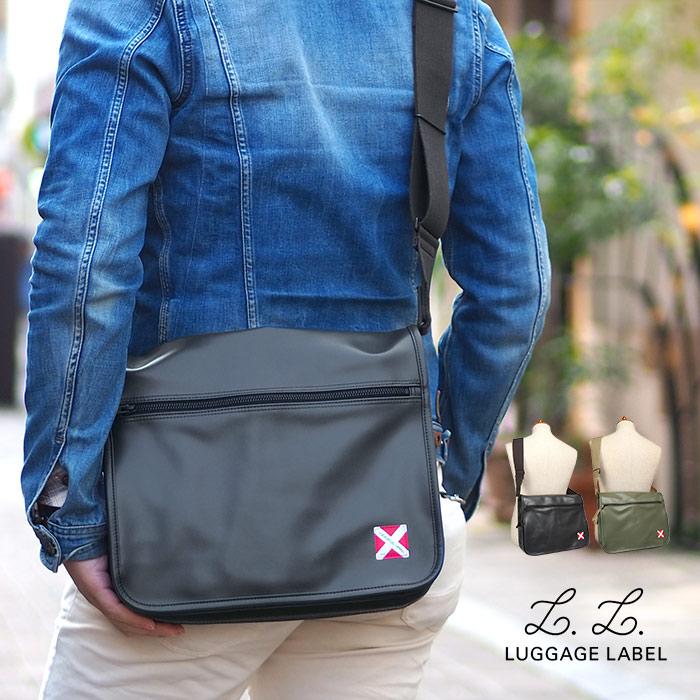 吉田カバン ラゲッジレーベル ライナー ショルダーバッグ L A4 赤バッテン メンズ ブラック/カーキ LUGGAGE LABEL 951-09236