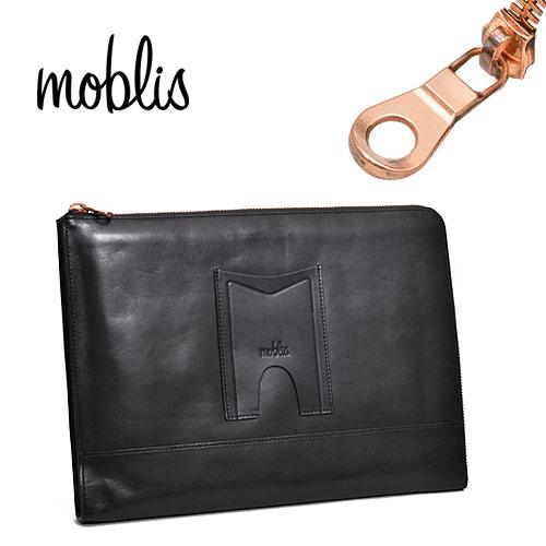 モブリス moblis クラッチバッグ ブラック メンズ MO-3-BLK ブランド 本革 革