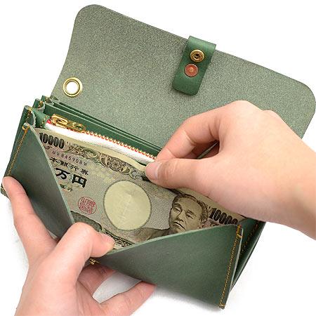 【500円クーポン対象】スロウ SLOW トスカーナ toscana 長財布 メンズ 333S00A ブランド 本革 革 緑 グリーン 財布