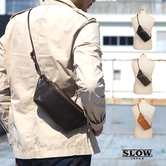 スロウ SLOW ボディ バッグ ホースピット メンズ ファニーパック ヒップバッグ レザー 300S89H