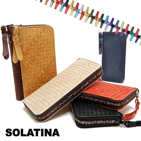 ソラチナ 長財布 ラウンドファスナー メッシュ メンズ SOLATINA SW-36090