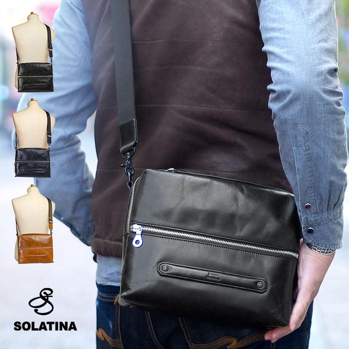 【500円クーポン対象】ソラチナ ショルダーバッグ A5 メンズ SOLATINA SBG-00011