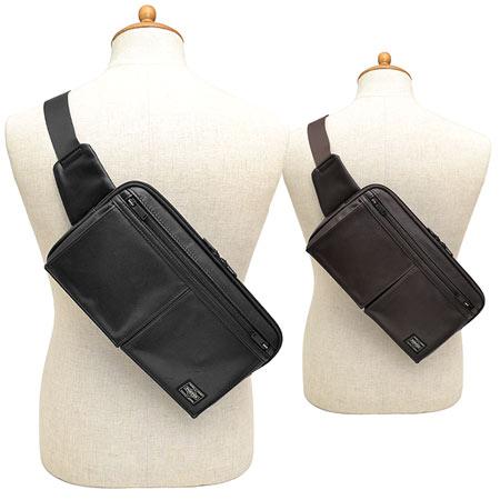 ポーター PORTER 吉田カバン アメイズ AMAZE ボディバッグ L ウエストバッグ メンズ バッグ 本革 革 レザー 022-03795 ブランド