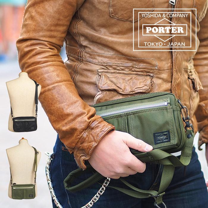 ポーター フライングエース 吉田カバン ショルダーバッグ S 2way メンズ ブラック/オリーブドラブ PORTER FLYING ACE 863-17934