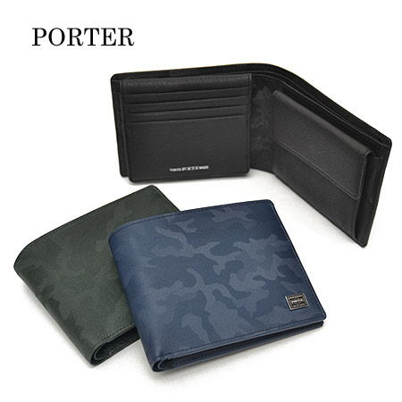 吉田カバン ポーター ワンダー WONDER PORTER パスケース 二つ折り財布 二つ折財布 折財布 メンズ 迷彩柄 342-03840