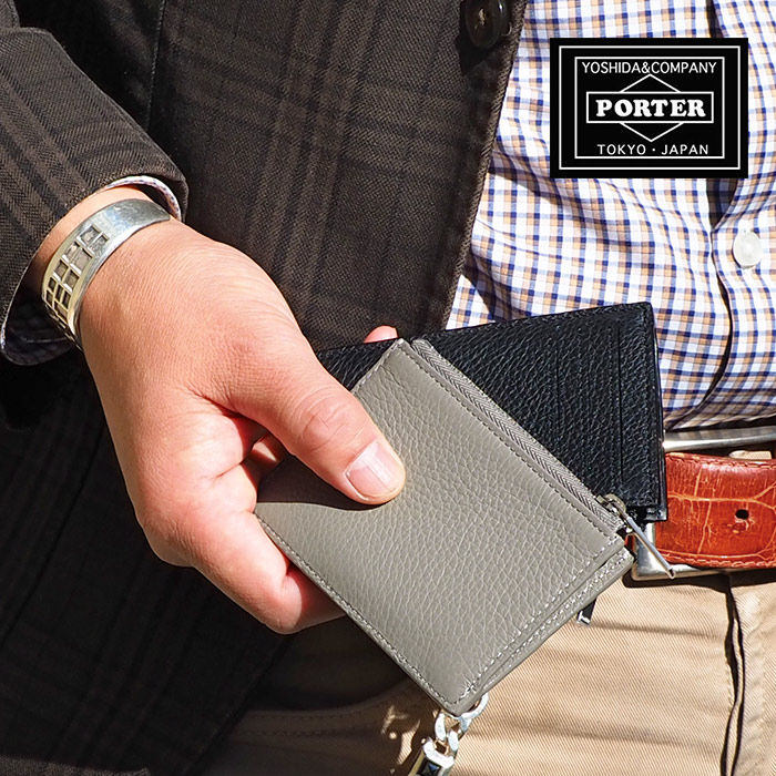 ポーター PORTER 吉田カバン アレンジ マルチウォレット ミニ 財布 カードケース メンズ ブラック/グレー 029-03885
