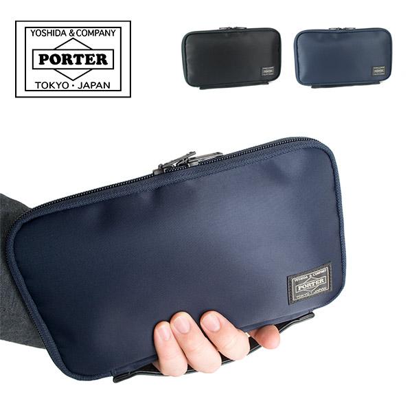 吉田カバン ポーター PORTER タイム TIME トラベルオーガナイザー メンズ トラベルポーチ トラベルグッズ セキュリティポーチ 多機能 海外旅行 財布 日本製 655-17879 パスポートケース