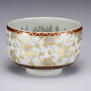 九谷焼 抹茶碗 極上白粒 細字入り 和食器 湯飲み いっぷく碗