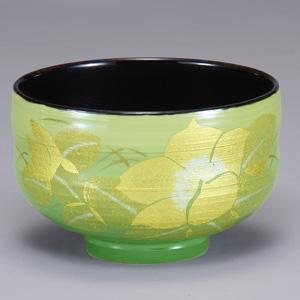 九谷焼 抹茶碗 釉裏金彩椿 和食器 湯飲み いっぷく碗