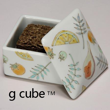 九谷焼 香箱 ボタニカル アロマテラピー 木箱入